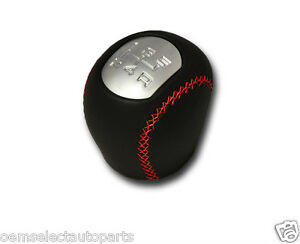 New Oem 2001 2007 Ford Focus St Leather Shift Knob W Red Stitching 5 Speed