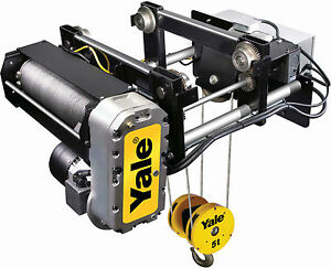 5 Ton Yale Global King Electric Wire Rope Hoist Trolley For Monorail 25ft Lift
