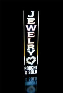 Jewelry Bought Sold Pawn Shop Business Led Light Box Sign Neon Alternative