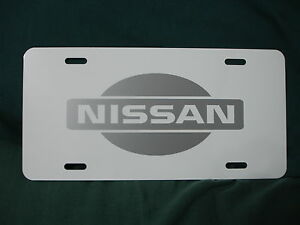 Nissan Aluminum License Plate