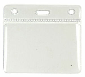Clear Id Card Badge Holder Pocket Pouch Choose Size Quantity Free Delivery Lot
