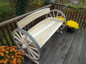 Wagon Wheel Bench Rustic Beautiful Solid As A Rock Built To Last For Decades