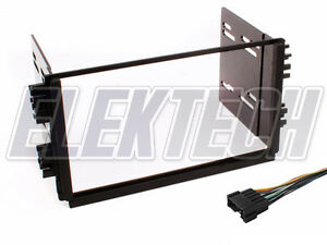 Double Din Radio Replacement Dash Mount Install Kit Harness For Kia Vehicles