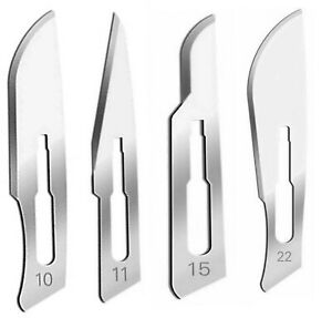60 Sterile Surgical Scalpel Handle Blades 10 11 15 22