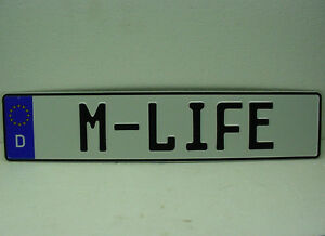 German License Plate Ec Tag M life Bmw M3 M5 Series 3 5 7 Bimmer