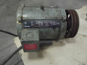 Ge 5 Hp Motor With Pulley