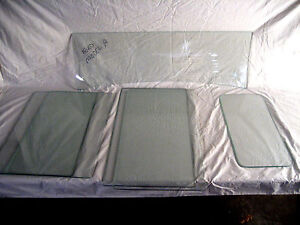 1928 1929 1930 1931 Ford Model A Tudor Sedan Glass Set Clear Vintage Glass