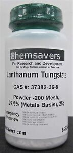Lanthanum Tungstate Powder 200 Mesh 99 9 metals Basis 25g