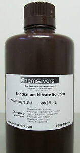 Lanthanum Nitrate Solution 99 9 Certified 1l