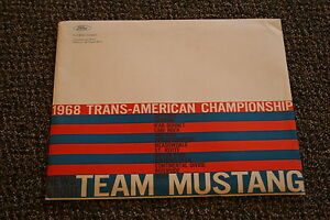Nos 1968 Ford Mustang Trans Am Press Kit Mint In Unopened Mailer
