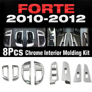 Chrome Interior Molding Kit Trim C365 For Kia Cerato Forte Sedan 2010 2012