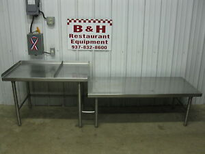 92 3 4 X 26 Stainless Work Prep Table Equipment Griddle Fryer Kettle Stand