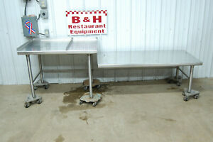 93 X 26 Stainless Work Prep Table Equipment Griddle Fryer Kettle Stand