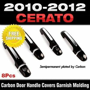 Carbon Door Handle Catch Cover Molding Garnish For Kia 2009 2012 Cerato Forte