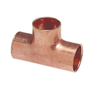 1 Copper Tee Cxcxc Sweat Plumbing Fitting 10 Pieces