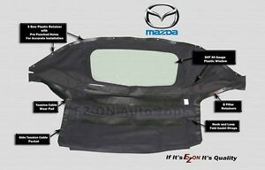 Ez On Mazda Miata 1990 2005 Convertible Soft Top Plastic Window Black Cabrio