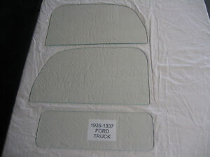 1935 1936 1937 Ford Pick Up Truck Left Right Door Glass Back Glass Clear