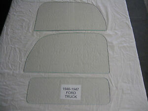 Ford Pickup Truck 1946 1947 Left And Right Door Glass And Back Glass Clear