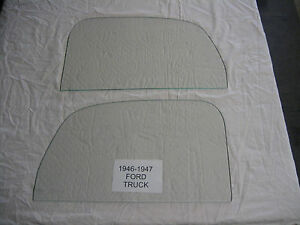 Ford Pickup Truck 1946 1947 Left And Right Door Glass Clear
