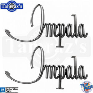 1968 Chevrolet Chevy Impala Fender Emblems Made In Usa Trim Parts 2715