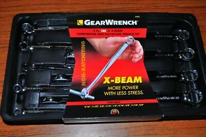 Kd Gearwrench 81913 Non Ratcheting X Beam Sae Xl Extra Long 9pc Set