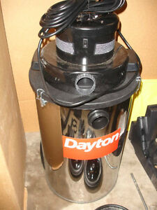 Dayton Commercial Industrial Wet dry Vacuum 1vhg2a 20 Gallon Stainless Steel New