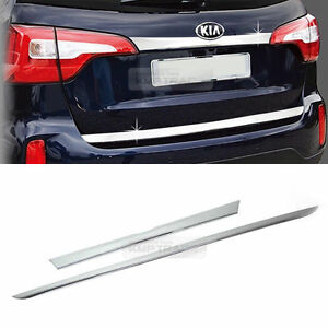 Chrome Trunk Bumper Garnish Molding Trim 2pcs For Kia 2013 2014 Sorento R