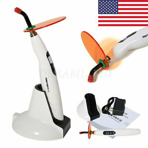 Dental Cordless Led Curing Light Lamp 1400mw Cure Fit Woodpecker Teeth Whiten T4