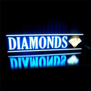 Diamonds Jewelry Gold Coins Led Light Sign Message Business Neon Alternative