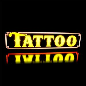 New Led Tattoo Parlor Body Piercing Shop Sign Yellow Light Box Alt To Neon