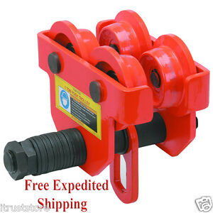 1 Ton Push Beam Trolley Hoist Winch Crane Lift Fits I Beams New