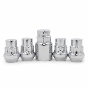 Wheel Locks 12x1 5 Chrome Closed Bulge Acorn Locking Lug Nuts Chevrolet Buick Gm
