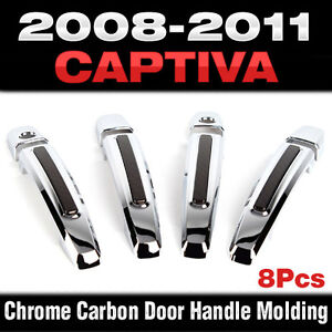 Luxury Chrome Door Catch Handle Molding Cover Trim For Chevrolet 2008 11 Captiva