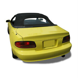 Fits Toyota Celica Convertible Soft Top Glass Window 1995 2001 Black Cloth