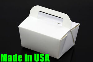 100x 6 Handle Take Out To Go Food Boxes Microwavable Noodles Muffin Bakery
