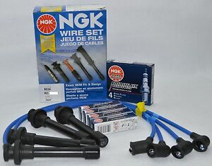 Acura Integra Ngk Japan Blue Spark Plug Wire Set He82 ngk Iridium Ix Spark Plugs