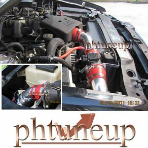 Red 2001 2003 Ford Explorer Sport Trac 4 0 4 0l Sohc Air Intake Kit Systems