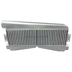 Cxracing Universal Twin Turbo Intercooler 2 in 1 out 27x12 5x3 5