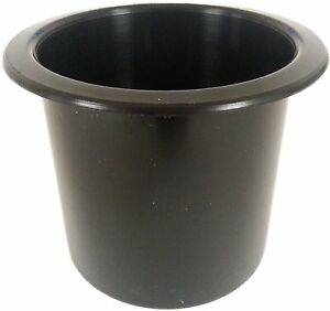 Single Black Drink Holder Plastic Boat Cup Holder Rv Poker Table 2 7 8 Inch Cup
