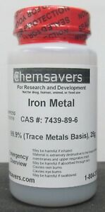 Iron Metal Powder 99 99 metals Basis 25g