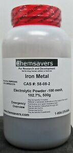Iron Metal Electrolytic Powder 100 Mesh 102 7 Certified 500g
