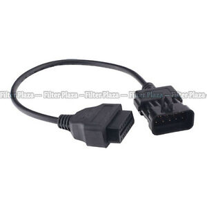 Vauxhall Opel 10 Pin To 16 Pin Obd2 Obd Car Diagnostic Connector Adapter Cable