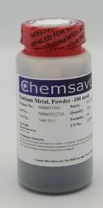 Niobium Metal Powder 100 Mesh 99 85 metals Basis Certified 100g