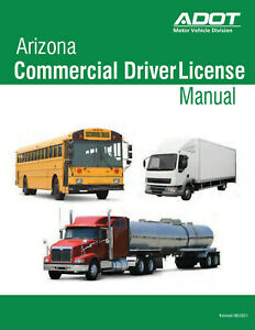 COMMERCIAL DRIVER MANUAL FOR CDL TRAINING (ARIZONA) ON CD IN PDF PROGRAM. $12.95