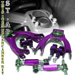 Civic Delsol Integra Eg Ej Eh Adjustable Upper Arm front rear Camber Kit Purple