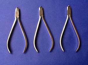 3 German T c Distal End Cutter Safely Hold Long Handle Orthodontic Instruments