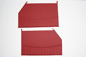 Porsche 356 1958 1965 Cabriolet Or Coupe T2 T5 t6 C Door Panels Red Vinyl