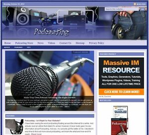 podcasting Turnkey Website For Sale turnkeypages
