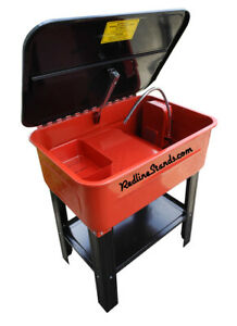 Redline Engineering 20 Gallon Parts Washer Cabinet 110v Electric Pump