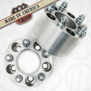 2 Made In Usa Ford Mustang 5 Lug Wheel Spacers 5x4 50 2 5 W studs Lug Nuts